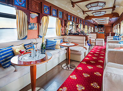 Trans Siberian Railway Express Train Interior - p390m2013434 by Frank Herfort