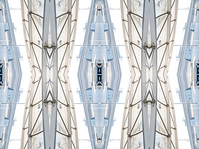 Abstract Kaleidoscope Salzburg Airport - p401m2210945 by Frank Baquet