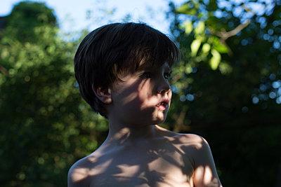 Boy in the garden - p1308m2126753 by felice douglas