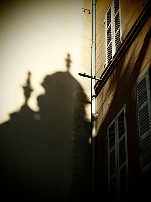 Shadow of a church tower - p1320533 by Peer Hanslik