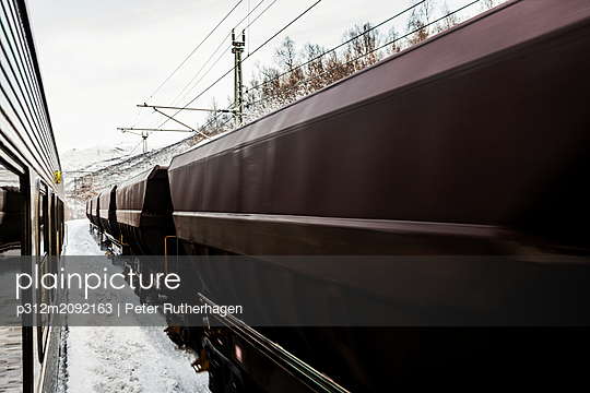 Freight train - p312m2092163 by Peter Rutherhagen