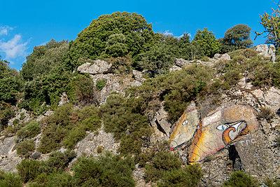 Felsenküste Wandmalerei - p949m1200320 von Frauke Schumann