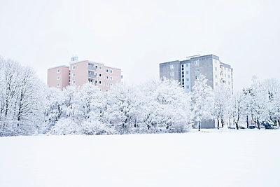 Hochhäuser im Winter - p1149m1550400 von Yvonne Röder