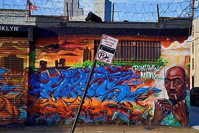 Street art in Bushwick - p1399m1573923 by Daniel Hischer