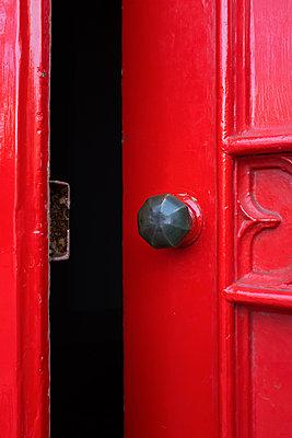 Open red door - p1228m1115676 by Benjamin Harte