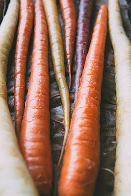 Carrots from Farmer Market - p1262m1119994 by Maryanne Gobble