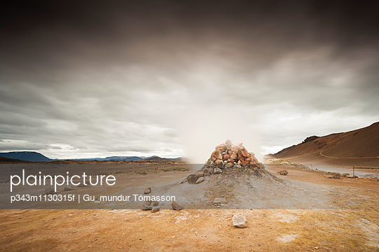 Geyser, Iceland. - p343m1130315f by Gu_mundur Tómasson