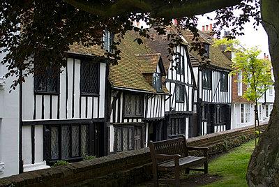 Tudor Houses, Rye, Kent, England - p8551063 by Natalie Tepper