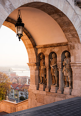 Fisherman's Bastion, Budapest, Hungary, Europe - p871m1167817 by Ben Pipe