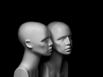 Still life heads - p1052m791743 by Wolfgang Ludwig