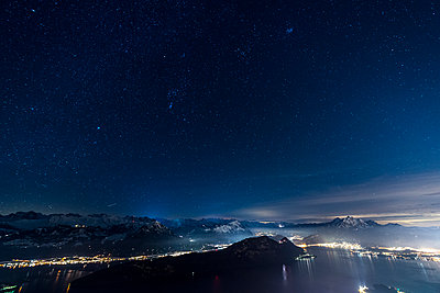 Lake Lucerne at night - p282m945961 by Holger Salach