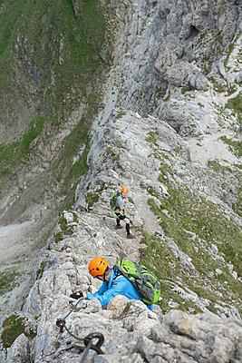 Klettern, Nebelhorn, Bayern - p427m1072743 von R. Mohr