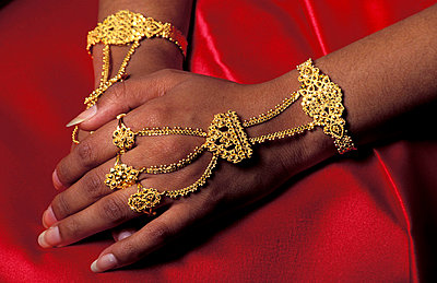 Woman's hand with jewelry - p6440706 by Chris Coe