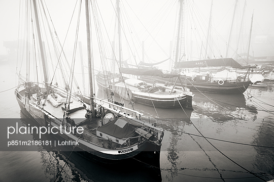 Germany, Museum harbour in Ovelgönne - p851m2186181 by Lohfink