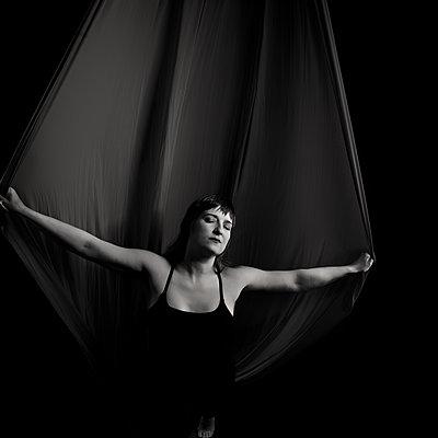 aerial silks dancer artist - p1554m2158914 by Tina Gutierrez