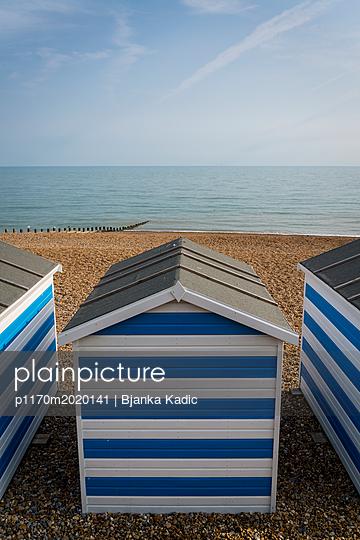 Bathing houses with horizontal stripes - p1170m2020141 by Bjanka Kadic