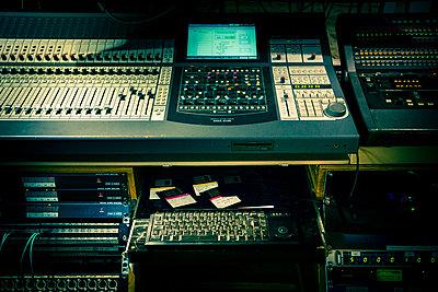 Sound studio mixing console - p1057m1444646 by Stephen Shepherd