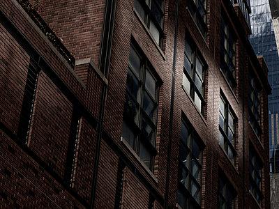 Brick building, facade, Manhattan, New York City - p758m2222566 by L. Ajtay