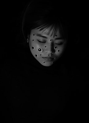 Face covered with dots - p1229m2073271 by noa-mar