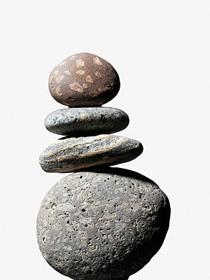 Stack of pebbles - p9247594f by Image Source