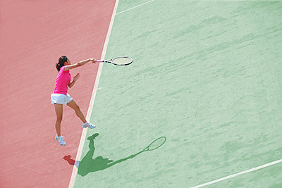 Young Japanese tennis player in action - p307m1122243f by Yusuke Nakanishi