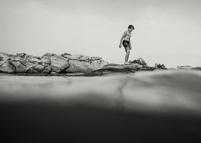 Boy on the Edge - p1503m2015885 by Deb Schwedhelm