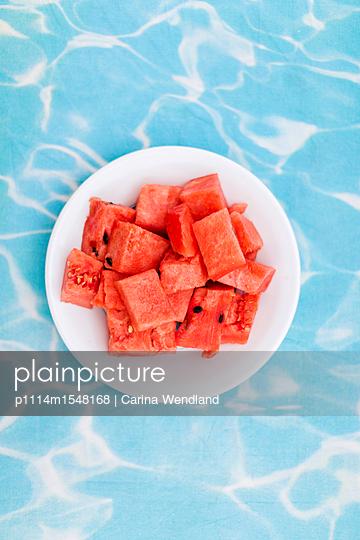 Wasser und Melone - p1114m1548168 von Carina Wendland