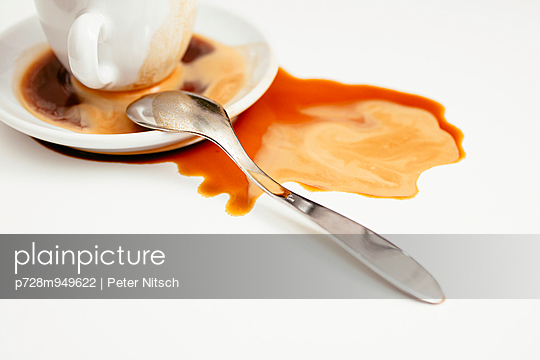 Spilled coffee - p728m949622 by Peter Nitsch