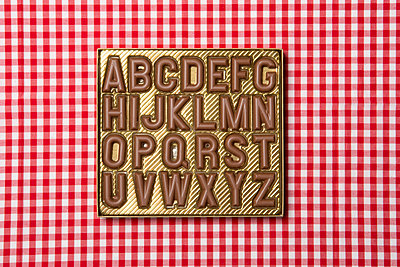 Chocolate alphabet - p451m694821 by Anja Weber-Decker