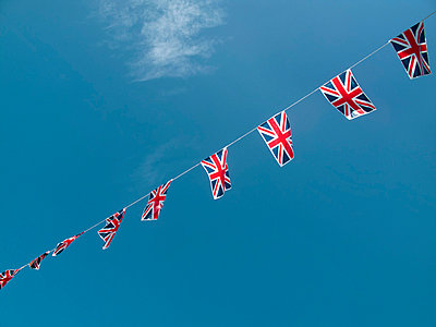 Union Jack Bunting - p1072m829468 by Neville Mountford-Hoare