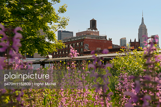 Highline in New York - p470m1152809 von Ingrid Michel