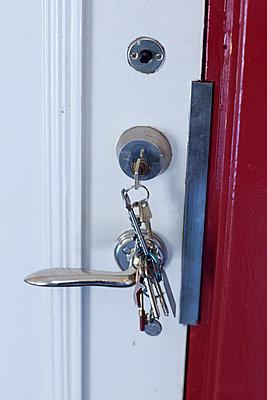 Keys in lock - p312m956914f by Malcolm Hanes