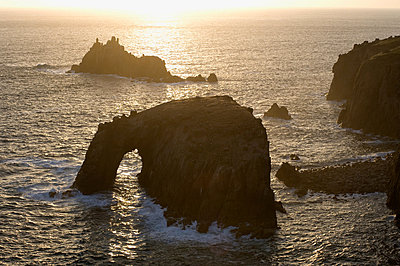 Lands end in cornwall - p9244174f by Image Source