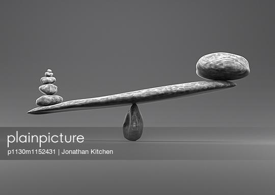 Steinschaukel - p1130m1152431 von Jonathan Kitchen