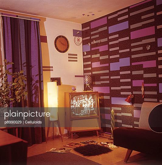 Wohnzimmer in blau - p8990029 von Celluloids