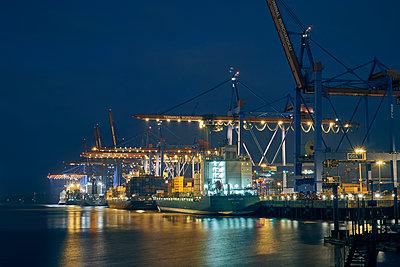 Containerterminal Waltershof - p1696m2293035 von Alexander Schönberg