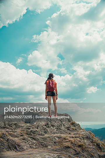 Girl in the mountains - p1432m2273295 by Svetlana Bekyarova