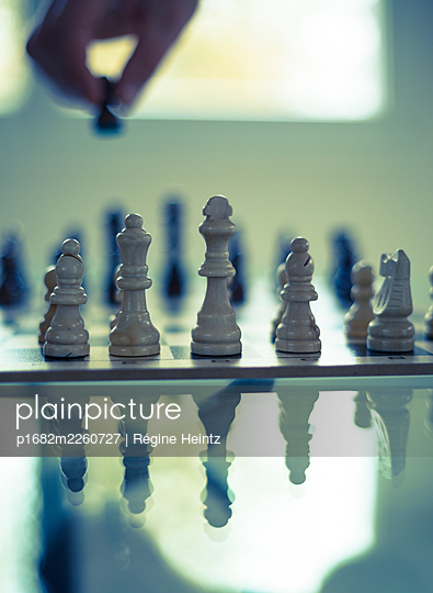 Chess game - p1682m2260727 by Régine Heintz