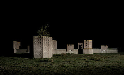 Ancient fortress in the dark - p1132m2126162 by Mischa Keijser