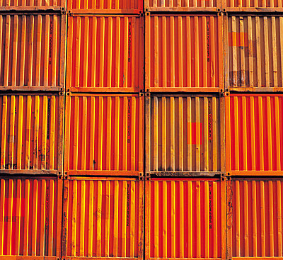 Shipping containers stacked together - p42917000 by Charlie Fawell