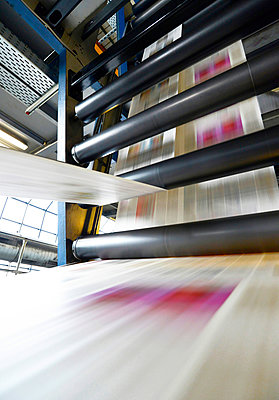 Printing of newspapers in a printing shop - p300m2213847 by lyzs