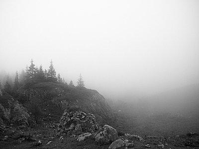 Mountainous landscape in mist - p388m701965 by Andre