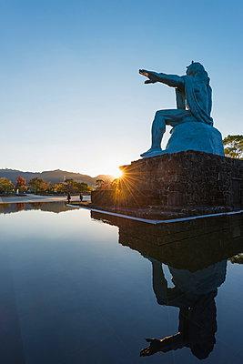 Peace Park, designed by Seibou Kitamura in memory of the 1945 atomic bomb victims, Nagasaki, Kyushu, Japan, Asia, - p871m962069 by Christian Kober