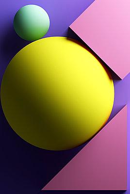 Purple background with geometric shapes - p300m2029229 by Dreava Bogdan