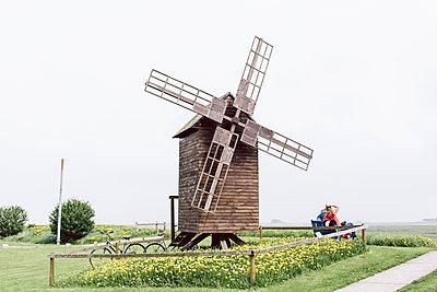 Fahrradpause an der Bockmühle - p1085m2007818 von David Carreno Hansen