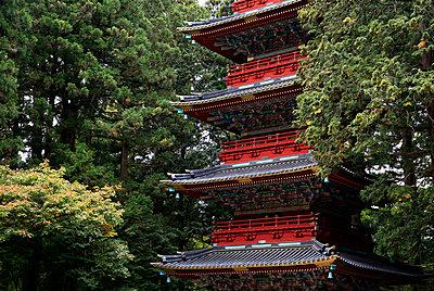 Pagoda outside the Tokugawa Mausoleum, Nikko, UNESCO World Heritage Site, Honshu, Japan, Asia - p871m1206596 by David Pickford