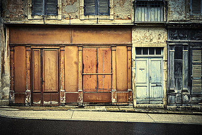 Old shop in a village in France - p1312m2222491 by Axel Killian