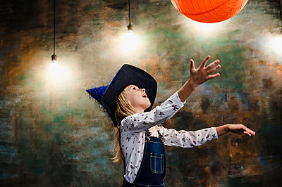 The girl with orange ball - p1412m1516513 by Svetlana Shemeleva