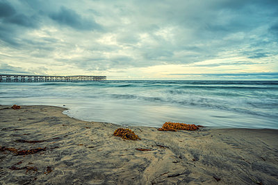 Mission Beach and Crystal Pier.  - p1436m2037579 by Joseph S. Giacalone