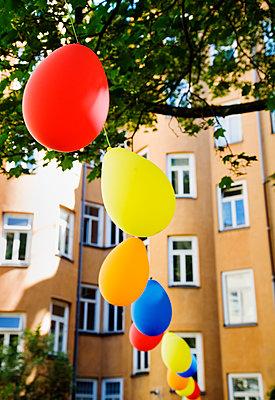 Sweden, Stockholm, Balloons - p352m1126648f by Lena Katarina Johansson
